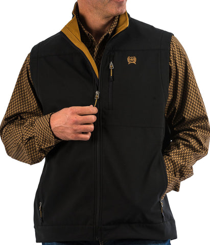 CINCH MEN'S BONDED VEST- BLACK/GOLD