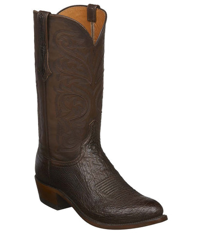 Lucchese NATHAN Mens Sienna Brown Calfskin Boots