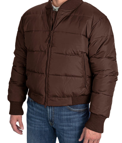 RESISTOL COWBOY DOWN JACKET- COFFEE