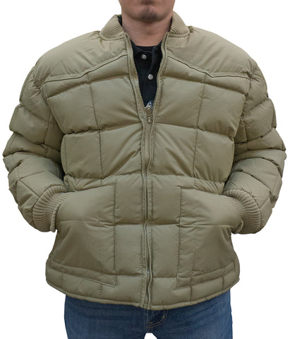 BULLRIDER NYLON SHELL, POLY/DOWN FILL WESTERN JACKET - KHAKI