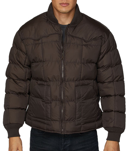 BULLRIDER WESTERN NYLON JACKET - BROWN