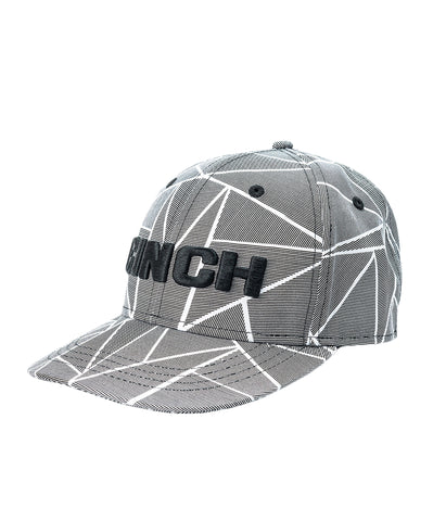 CINCH FITTED CAP - TEXTURED GRAY AND WHITE S/M