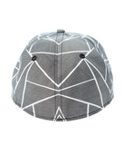 CINCH FITTED CAP - TEXTURED GRAY AND WHITE L/XL