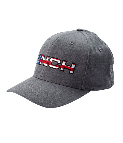 CINCH MENS FLEXFIT BASEBALL CAP - HEATHER GRAY