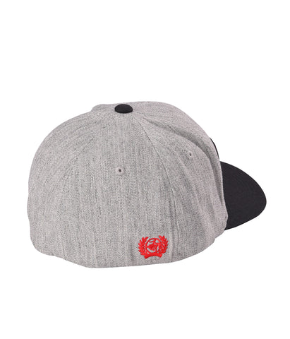 CINCH MENS FLEXFIT CAP - GRAY AND BLACK
