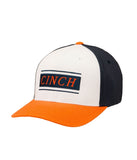 Cinch White Navy Orange Flexfit Cap