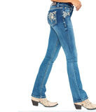 GRACE FLORAL EASY FIT BOOT CUT