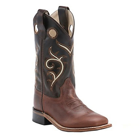 Old West Kids' Brown Swirl Western Cowboy Boots