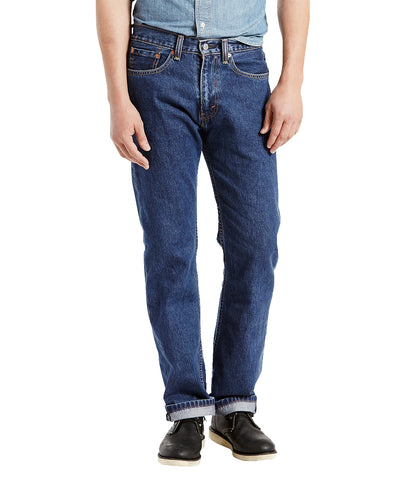LEVI'S 505 REGULAR FIT JEAN - DARK STONEWASH
