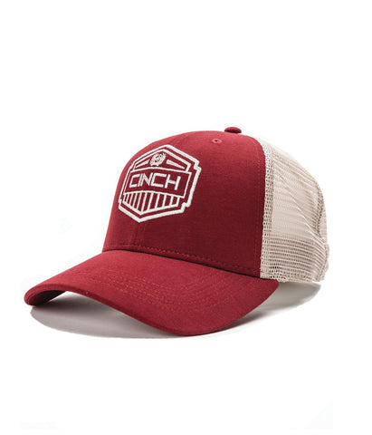 CINCH MENS RED TRUCKER CAP