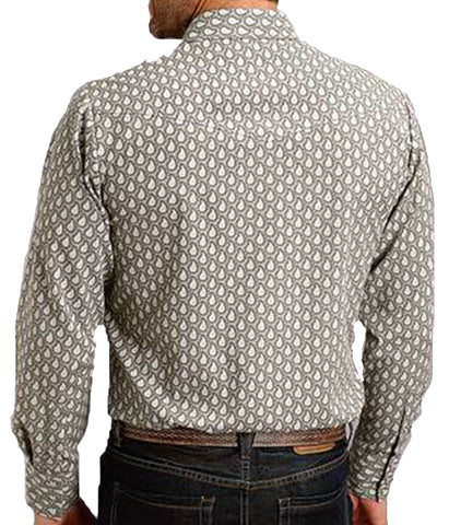 Roper Men's Long Sleeve Grey Button Down Shirt