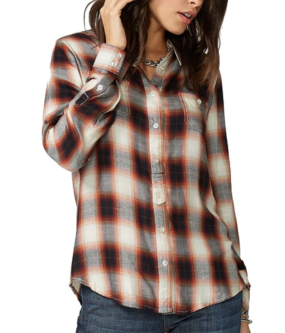 Stetson© Women's Baroque Ombre Plaid Western Shirt