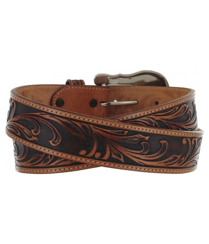TONY LAMA WESTERLY RIDE BELT - BLACK