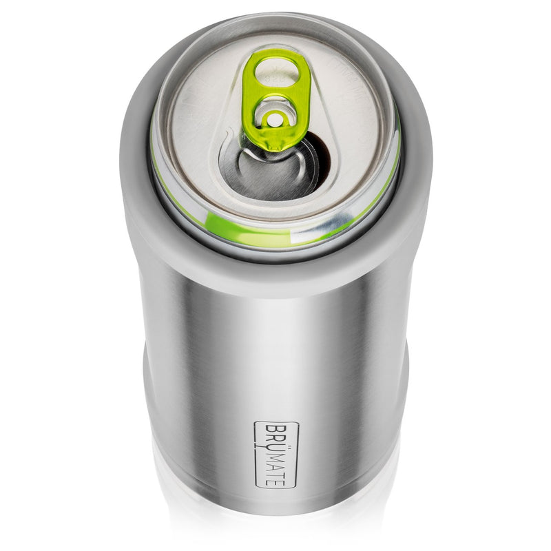 HOPSULATOR GREY MATTE | AQUA (12OZ SLIM CANS)