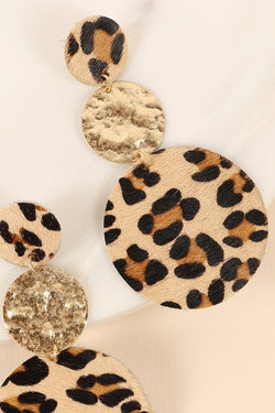 Spirited Poise Cheetah Print Earrings - Posh Boutique KY