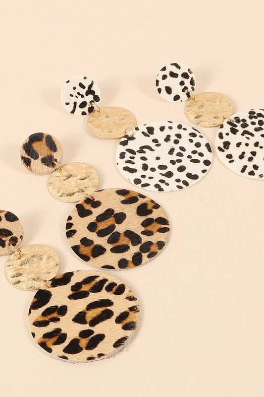 Spirited Poise Leopard Print Earrings - Posh Boutique KY