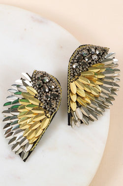 Fallen For Love Gold/Silver Statement Earrings - Posh Boutique KY