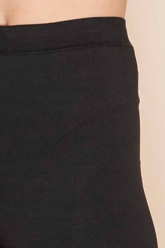 HIGH RISE BIKER SHORTS BLACK