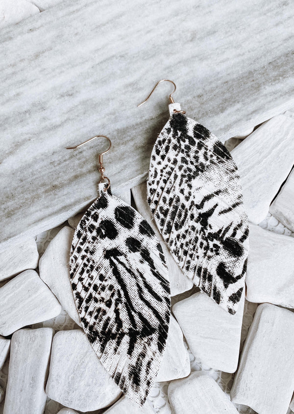 Leather Speckled Earrings