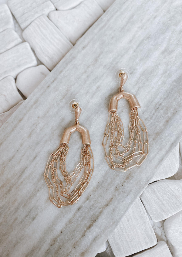 Multi Layer Gold Chain Earrings