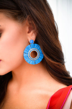 See You Again Blue Statement Earrings - Posh Boutique KY