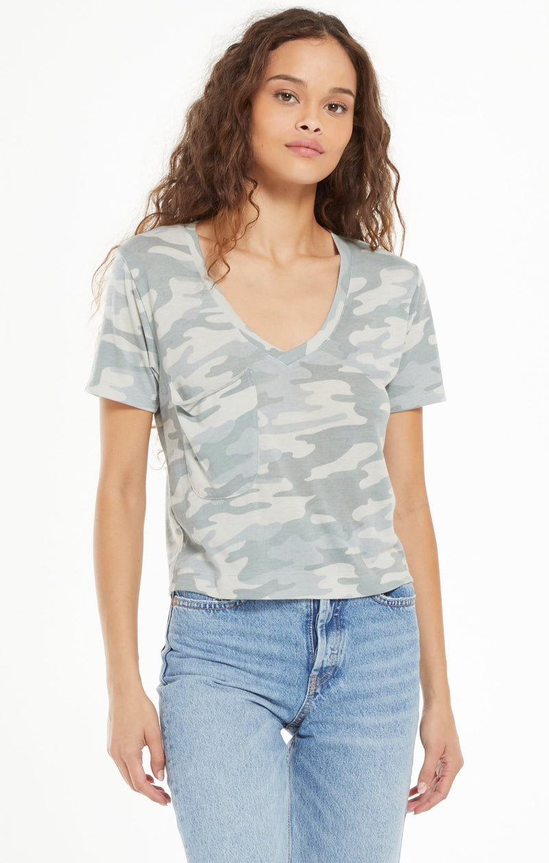 CAMO CLASSIC SKIMMER TEE - Dusty Sage (Z Supply Label)