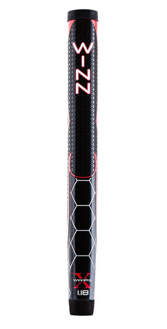 "Winn Golf Pro X Putter Grip - 1.18"" Black Red"