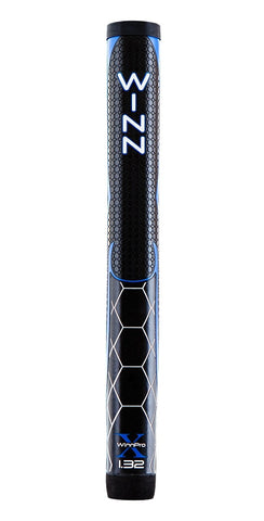 "Winn Golf Pro X Putter Grips - 1.32"" Black Blue"