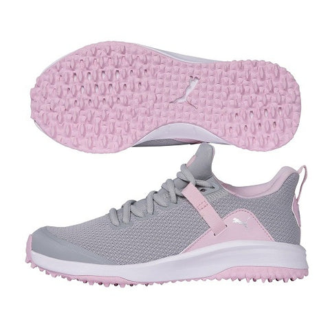 Puma Fusion Evo Junior Golf Shoes - High Rise / Pink Lady