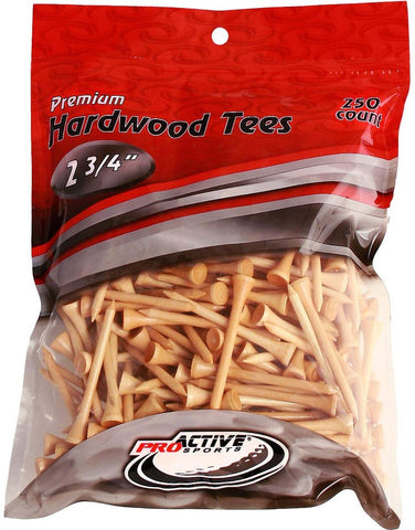 "ProActive Premium Sports Hardwood Golf Tees 2.75"" 250 count"