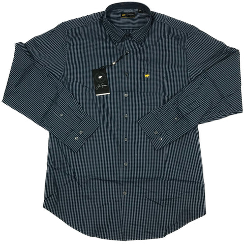 Jack Nicklaus Black Label by Perry Ellis Mini Plaid Button Down Shirts