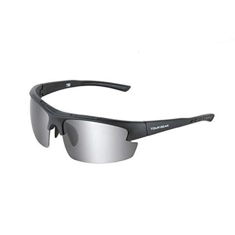 Tour Gear Men's Semi-Rimless Sunglasses - Matte Black