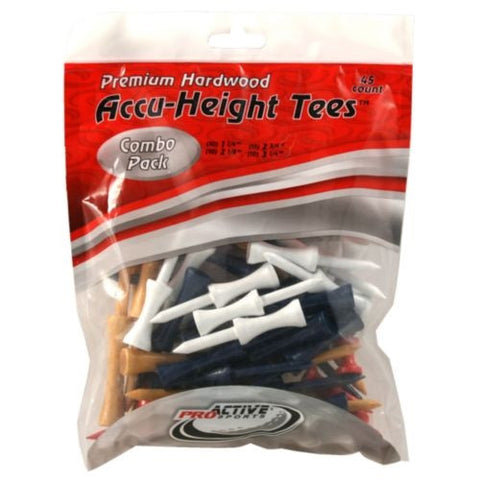 ProActive Sports Premium Hardwood Accu-Height Golf Tees