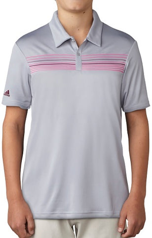 Adidas Golf Junior Boys Merch Polo - Mid Grey