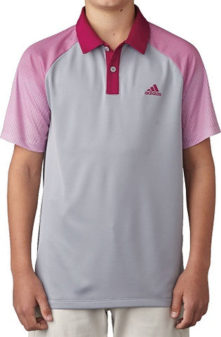 Adidas Golf Junior Boys Novelty Polo Shirt - Mid Gray