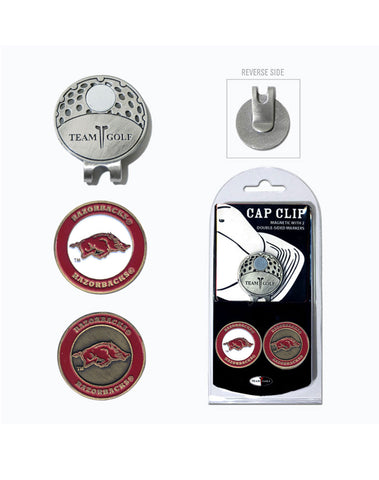 Team Golf Hat Clips with Ball Markers - NCAA Collegiate