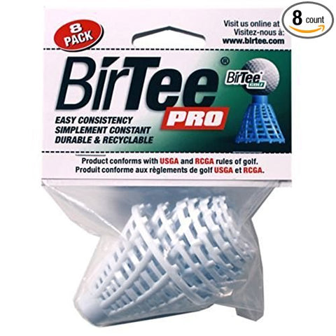 BirTee Pro 8 Pack White Golf Tees