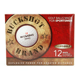 BUCKSHOT BRAND GOLF BALLS - 12 Golf Balls in Package