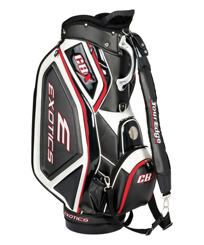 Tour Edge Exotics CBX Staff Bag Black White 4-Way Divided