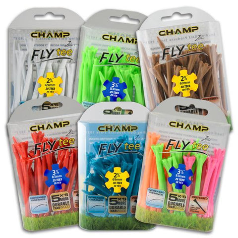 "Champ Fly Tees 2.75"" 30 Count Packs"