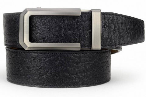 NexBelt Chronos Buckle  PreciseFit w/Classic Ostrich Series Dress Belt