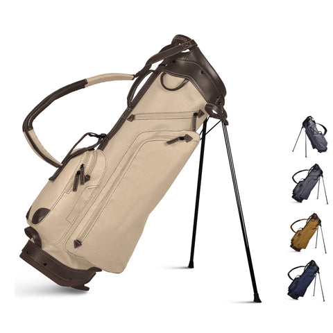 Sun Mountain Golf Canvas & Leather Carry Stand Bag