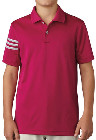 Adidas Golf Boys 3-Strips Polo