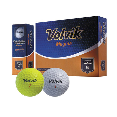 Volvik Magma Non-Conforming Illegal Distance White Golf Balls (3 Ball Sleeve)