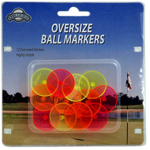 OnCourse Golf Large Neon Color Ball Markers