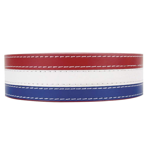 NexBelt Patriot PreciseFit Leather Strap Belts - USA Red White Blue Belt Strap Only