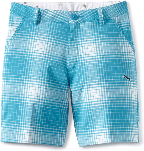 Puma Golf Boy's Ombre Plaid Bermuda
