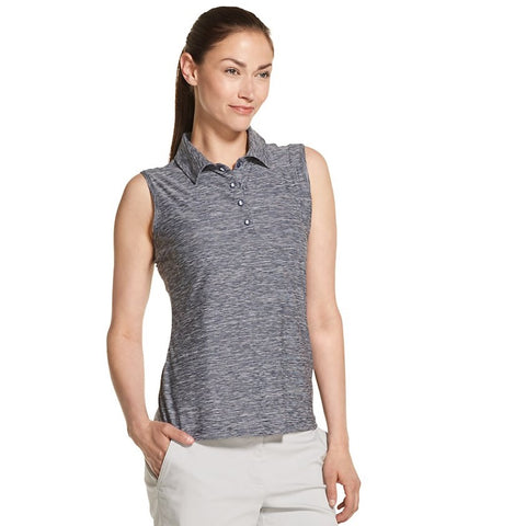 Izod Golf Ladies Sleeveless Heather Polo
