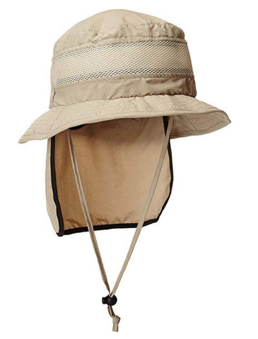 Stetson No Fly Zone Neck Shield Bucket Hats STC199-Khaki