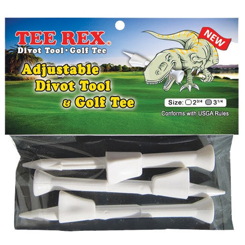 Tee Rex Multi-Use Adjustable Divot Tool & Golf Tees